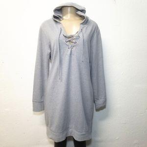 NY&C SOHO Gray Hoodie Sweater Medium